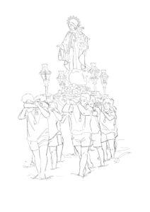 Pinta a la Virgen del Carmen